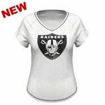 Oakland Raiders Majestic Womens Champion Swagger V Tee