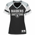 Oakland Raiders Majestic Womens Draft Me Fashion Tee