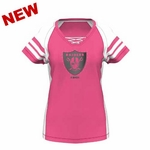 Oakland Raiders Majestic Womens Draft Me VII Pink Tee