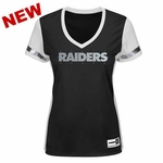 Oakland Raiders Majestic Womens Intense Play Tee