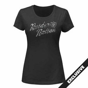 Oakland Raiders Majestic Women's Raider Nation III Tee - Click to enlarge
