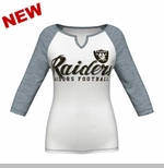 Oakland Raiders Majestic Womens Victory is Sweet 3/4 Sleeve Tee