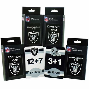 Oakland Raiders Math Flashcards Pack - Click to enlarge