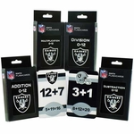 Oakland Raiders Math Flashcards Pack