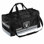 Oakland Raiders Medium Striped Duffle