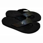 Oakland Raiders Mens Leather Flip Flop