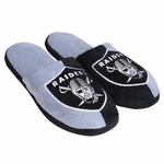 Oakland Raiders Mens Split Color Slippers