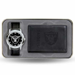 Oakland Raiders Mens Watch Gift Set - Click to enlarge