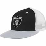 Oakland Raiders Meshback Adjustable Snapback Cap