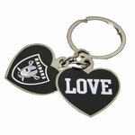 Oakland Raiders Metal Love Keychain