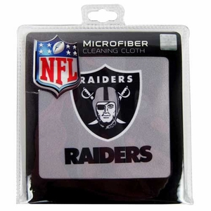 Oakland Raiders Microfiber Cleaning Cloth - Click to enlarge