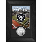 Oakland Raiders Mini Frame 5x7 Coin