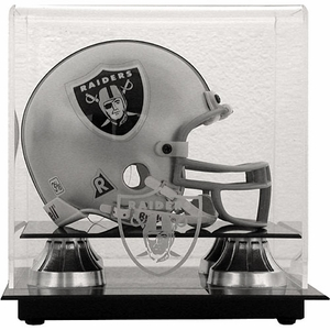 Oakland Raiders Mini Helmet Display Case - Click to enlarge