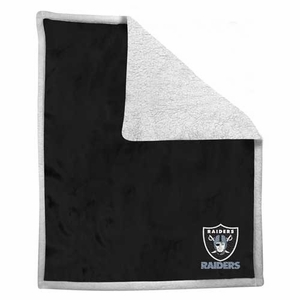 Oakland Raiders Mink Sherpa Blanket - Click to enlarge