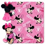 Oakland Raiders Minnie Mouse Hugger with Fleece Blanket