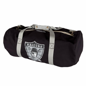 Oakland Raiders Mitchell & Ness 1963 Canvas Duffle - Click to enlarge