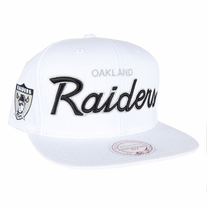 Oakland Raiders Mitchell & Ness 1963 White Snapback Cap - Click to enlarge
