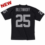 Oakland Raiders Mitchell & Ness Fred Biletnikoff Black Replica Jersey