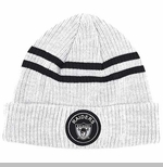 Oakland Raiders Mitchell & Ness Heather Striped Cuffed Knit Hat