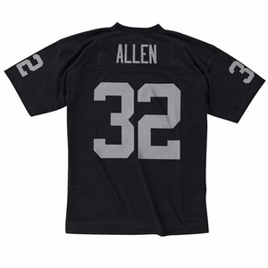 Oakland Raiders Mitchell & Ness Marcus Allen Black Replica Jersey - Click to enlarge