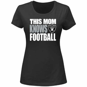 Oakland Raiders Mom Knows Football Tee - Click to enlarge