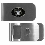 Oakland Raiders Money Clip Bottle Opener