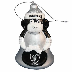 Oakland Raiders Monkey Bell Ornament - Click to enlarge