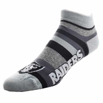 Oakland Raiders Mountain Stripe Sock