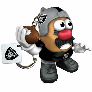 Oakland Raiders Mr. Potato Head Keychain - Click to enlarge