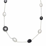 Oakland Raiders Multi-Pearl Chain Necklace