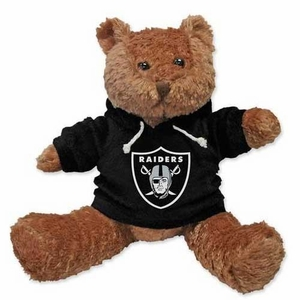 Oakland Raiders Musical Hoodie Bear - Click to enlarge