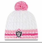 Oakland Raiders New Era 2013 Womens Breast Cancer Awareness Knit Hat