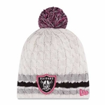 Oakland Raiders New Era 2014 Womens Breast Cancer Awareness Knit Hat