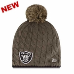 Oakland Raiders New Era 2014 Womens Salute to Service Knit Hat