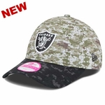 Oakland Raiders New Era 2015 9Forty Womens Salute to Service Cap