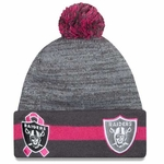 Oakland Raiders New Era 2015 Breast Cancer Awareness Knit