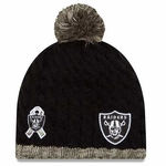 Oakland Raiders New Era 2015 Womens Salute to Service Knit Hat