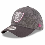Oakland Raiders New Era 39Thirty 2016 Official Breast Cancer Awareness Cap