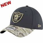 Oakland Raiders New Era 39Thirty 2016 Official Salute to Service Cap