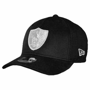 Oakland Raiders New Era 39Thirty Black Gray Logo Cap - Click to enlarge