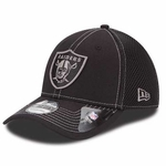 Oakland Raiders New Era 39Thirty Black Neo Cap