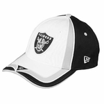 Oakland Raiders New Era 39Thirty Coaster Clash Cap