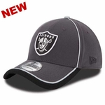 Oakland Raiders New Era 39Thirty Graphite Cap