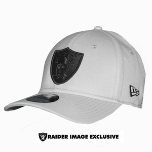 Oakland Raiders New Era 39Thirty Gray Black Logo - Click to enlarge