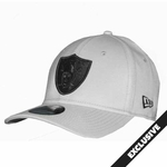 Oakland Raiders New Era 39Thirty Gray Black Logo