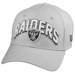 Oakland Raiders New Era 39Thirty Gray Draft Flex Cap - Click to enlarge