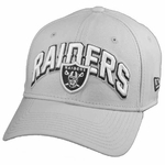 Oakland Raiders New Era 39Thirty Gray Draft Flex Cap