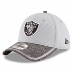 Oakland Raiders New Era 39Thirty Grey 2016 Training Camp Cap