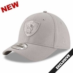 Oakland Raiders New Era 39Thirty Grey Tone Tech