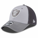Oakland Raiders New Era 39Thirty Greyed Out Neo Cap